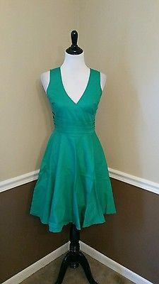 New-Tropical-Wear-60-Green-M-Stretch-Cotton-Dress-Modcloth-Beguiling-Beauty