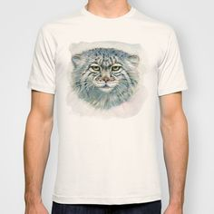 Pallas's cat 862 T-shirt by S-Schukina - $22.00