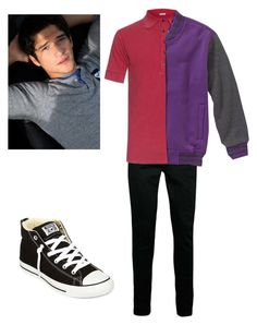 """Aziz, Uniform #2"" by paisely099 ❤ liked on Polyvore featuring Converse, Topman, Tomas Maier, women's clothing, women, female, woman, misses, juniors and disneydescendants"