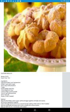 Bread Recipes, Cake Recipes, Cooking Recipes, Custard Biscuits, Custard Powder, Kitchen Taps, Vanilla Essence, Cake Flour, Biscuit Recipe
