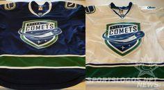 Utica Comets... Canucks' AHL affiliate. Utica Comets, Hockey Stuff, Sports, Jackets, Tops, Hs Sports, Down Jackets, Sport, Jacket