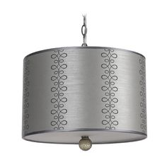 AF Lighting Modern Drum Swag Lamp with Silver Shades in Paper Finish | 8309-3H | Destination Lighting
