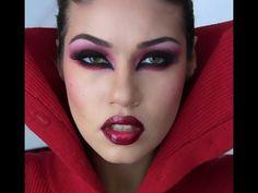 Vampire Smokey eyes! Stock Colorguard makeup