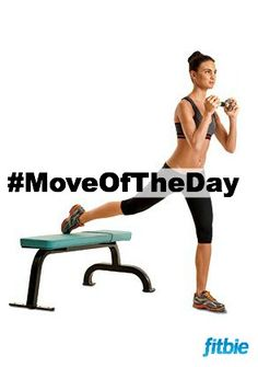 #MoveOfTheDay: Front-Loaded Split Squat, works #glutes, #hamstrings, and #quads | Fitbie.com