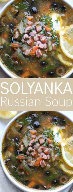 Solyanka Russsian Soup Recipe.