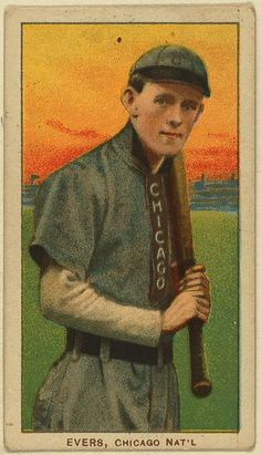Johnny Evers Chicago Cubs baseball card (circa 1909 - 1911)