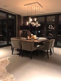 Dream House Interior, Dream Home Design, Modern House Design, Home Interior Design, Luxury Dining Room, Dining Room Design, House Rooms, Home Decor Inspiration, Living Room Decor