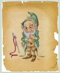 This one has a different olde time fantasy feel to him! Deviant Art Here is what the artist says about his work    Leprechaunby *-lildragon-  Digital Art / Drawings / Fantasy	©2007-2013 *-lildragon-  I was in the mood to draw a fantasy creature, Jean-Baptiste Monge inspired. I tried to mix his style with mine, wich turned out more my own thing then I intended, but I like that.  Parchment texture by *LeonaWindrider Credit for the lovely background goes to her!