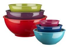 Gotta have colorful mixing bowls!