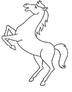 horse pictures to print and color