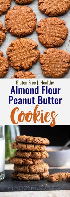 Chewy and perfectly nutty Almond Flour Peanut Butter Cookies that will satisfy your sweet tooth craving with a twist on this classic! | #Foodfaithfitness | #peanutbuttercookies #glutenfree #almondflour #classic #twist Healthy Cookie Recipes, Healthy Cookies, Sweets Recipes, Healthy Baking, Healthy Snacks, Keto Recipes, Fudge Recipes, Healthy Sweets, Keto Snacks