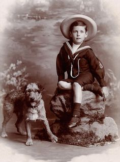 BORDER TERRIER SMALL BOY GREAT OLD STYLE DOG PHOTO PRINT MOUNTED READY TO FRAME