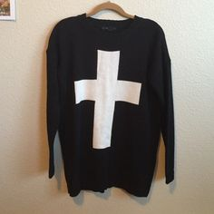 Cross sweater NWOT Medium to light weight knit- never worn.currently not interested in trades Forever 21 Sweaters Crew & Scoop Necks