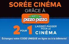 Coupons et Circulaires: 13,99$ Pizza pizza + 2 pour 1 Cinéplex