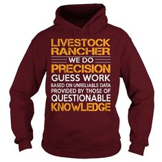 Awesome Tee For Livestock Rancher T-Shirts, Hoodies. Get It Now ==► https://www.sunfrog.com/LifeStyle/Awesome-Tee-For-Livestock-Rancher-93203826-Maroon-Hoodie.html?id=41382