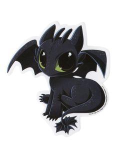 How To Train Your Dragon 2 sticker with an image of the only living Night Fury, Toothless.