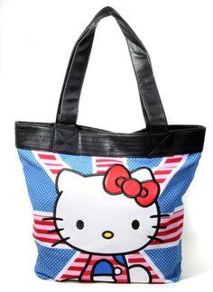 Amazon.com: Hello Kitty British Union Jack Striped Flag Tote Bag: Clothing