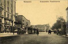 Warsaw Cracow Road at Karowa Street, left the Bristol Hotel Warsaw, Bristol, Repeat, Palace, Street View, Lost, History, City, Historia