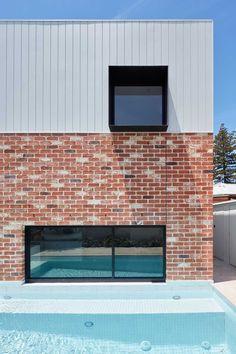 Brick Cladding, Brick Facade, Exterior Cladding, Brickwork, Facade House, Cladding Ideas, Brick Walls, House Extension Design, House Design