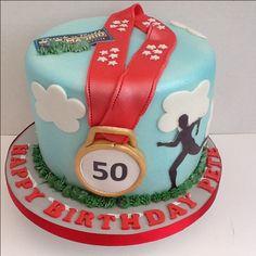 Birthday cake for a marathon runner.