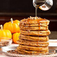 Fluffy Pumpkin Pancakes - Soft, fluffy, moist, tender, and the best flavors of Fall.