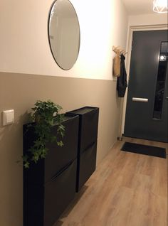 Dark Hallway, Makeover Before And After, Small Hallways, Hallway Decorating, Home Interior, Farmhouse Style, Entryway Tables, Living Room Decor, New Homes