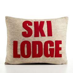 Ski Lodge Decorative Pillow baby nursery