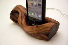 $150 wood iphone dock.  this whole etsy store is awesome.