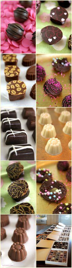 Home made chocolates~^^ ..... Color sugar