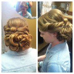 Homecoming, wedding, or prom hairstyle for long hair