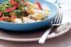 Pasta met krokante salami en champignons - Recept - Allerhande