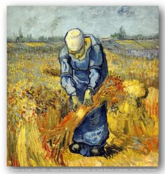 Vincent van Gogh (1853-1890) – Peasant Woman Binding Sheaves. Van Gogh Museum, Amsterdam. | Flickr - Photo Sharing!