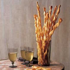 Homemade Cheese Straws: If you have time to turn out a batch of homemade puff pastry before the party, we guarantee you'll be dazzled by these cheese-heavy twists (Homemade Cheese Thanksgiving)