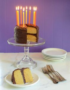 Paleo Vanilla Birthday cake made with 6 ingredients --coconut flour, eggs, butter, maple syrup, vanilla, and baking soda --for your paleo celebrations!