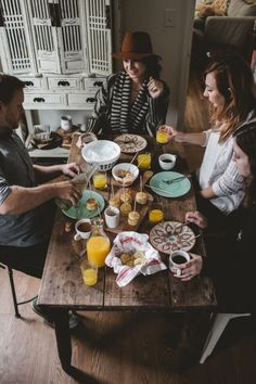 A Weekday Brunch, Vintage Inspiration and Mini Quiche Lorraine + Pancake Skewers with Warm Maple Butter | offbeat + inspired