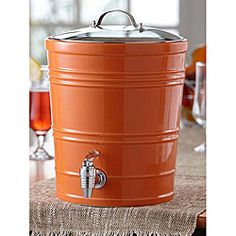 @Overstock - This American Atelier beverage dispenser is a ceramic canister with a glass lid. This orange drink dispenser offers 340 ounces of space for your summer drinking enjoyment.http://www.overstock.com/Home-Garden/American-Atelier-Orange-340-ounce-Beverage-Dispenser/5144960/product.html?CID=214117 $34.59