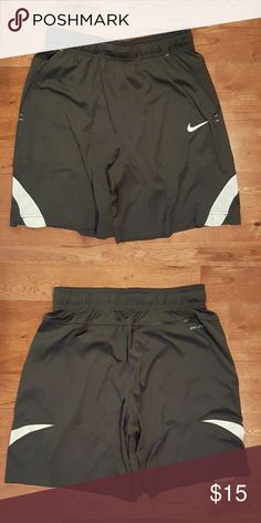 Nike Shorts Above knee/thigh length Grey/White Two front pockets Zippered back pocket Great condition  Don't comment your offer, send it via the offer link. Remember you can also make offers on bundles.  Clean home, smoke-free/no furry friends inside. Nike Shorts