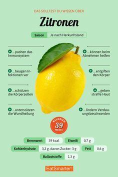 Das solltest du über Zitronen wissen | eatsmarter.de #zitronen #ernährung #infografik