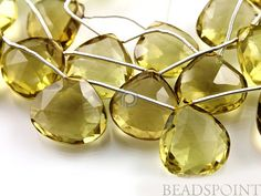Natural '' NO TREATMENT'' Lemon Topaz Extra Large by Beadspoint, $57.95