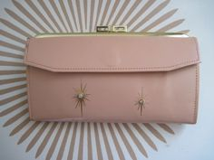 Pale Pink LADY BUXTON Vintage Leather Wallet with von FASHIONRERUN, $42,00