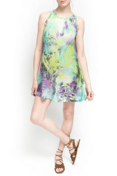 Heidi Dress from Walter Baker. 100% Polyester Keyhole in Back with Button at Neck Water Tropical $168
