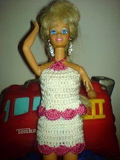 Barbie outfit Háčkování pro volné chvíle Amigurumi, anglické zkratky, šaty na panenky