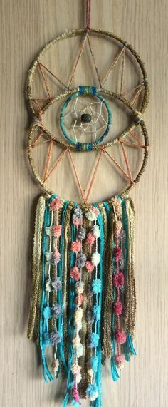 Gods Eye Dreamcatchers by Karen Michel - 27 Inspirational Diy Dream Catchers Inspiration Yarn Crafts, Diy And Crafts, Arts And Crafts, Dream Catcher Craft, Dream Catchers, Dream Catcher Mobile, Los Dreamcatchers, Dream Catcher Tutorial, Gods Eye