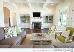 15 Lovely Grey and Green Living Rooms
