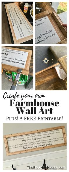 Create your own Farmhouse sign, and get a free printable! Lyrics to Forever Young by Bob Dylan!