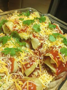 Gluten Free Becky: Sour Cream Chicken Enchiladas