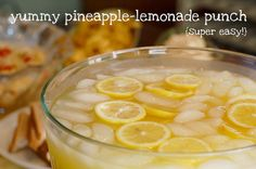 Yummy Pineapple-Lemonade Punch - (super easy) - You Are My Sunshine – a baby shower
