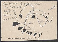 The U.S.A. mobile by Alexander Calder