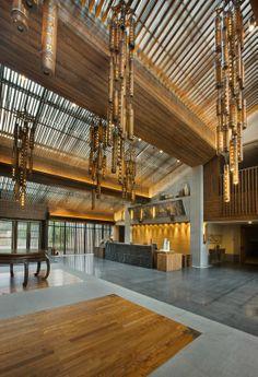 无锡灵山精舍-4 Asian Interior, Interior Styling, Interior Design, Lobby Reception, Reception Desks, Lobby Lounge, Interior Concept, Hospitality Design, Hotels And Resorts