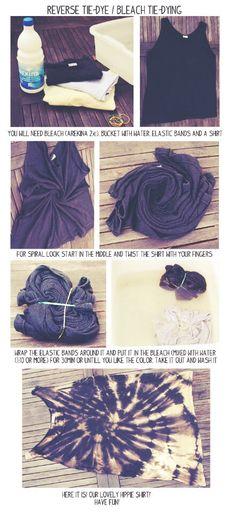 Bleach Tye Dye!! #Various #Trusper #Tip